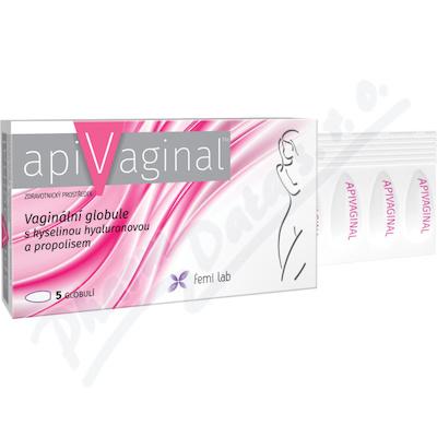 Apivaginal Vag. globule s kys. hyaluron. a propol. 5ks