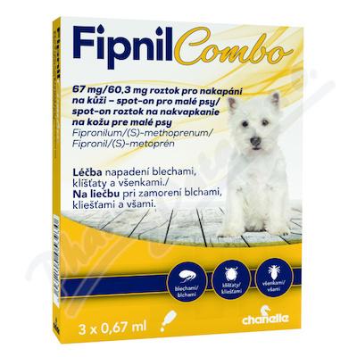 Fipnil Combo 67-60. 3mg spot-on Dog S 3x0. 67ml