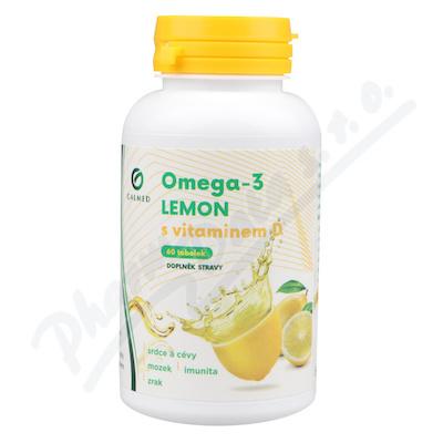 Omega-3 LEMON rybí olej s vit. D tob. 60 Galmed