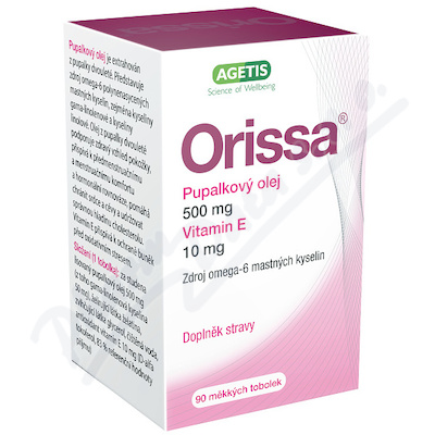 Orissa Pupalkový olej s vitaminem E cps. 90