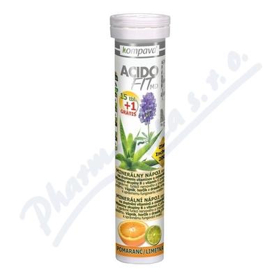 AcidoFit MD pomaranč-limetka tbl.eff.15+1 zdarma