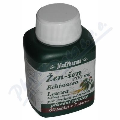 MedPharma Žen-šen+echinacea+leuzea cps. 67