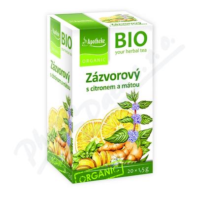 Apotheke BIO Zázvor s citronem a mátou čaj 20x1. 5g