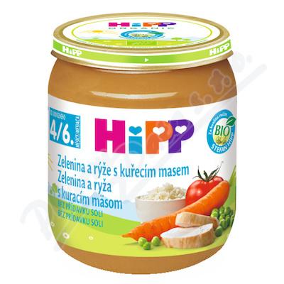 HiPP BABY BIO Zel.om. s rýží a kuř.m. 125g